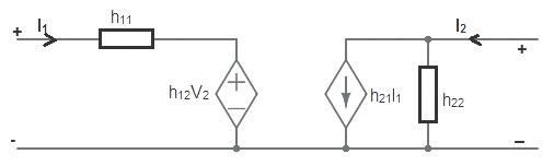 Equivalent circuit representation-h parameter