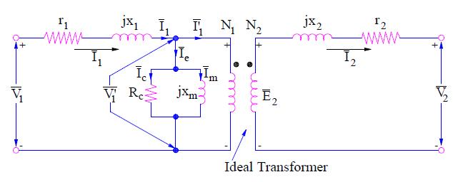 Exact Transformer Equivalent Circuit