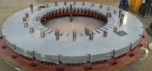 Assembling of stator core of synchronous generator