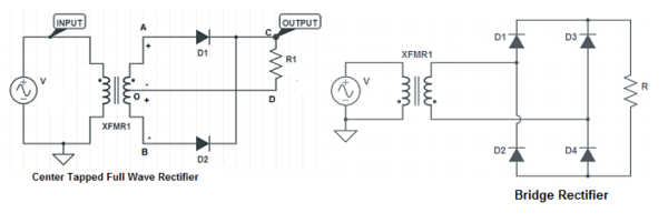 Difference-between-center-tapped-full-wave-rectifier-bridge-rectifier