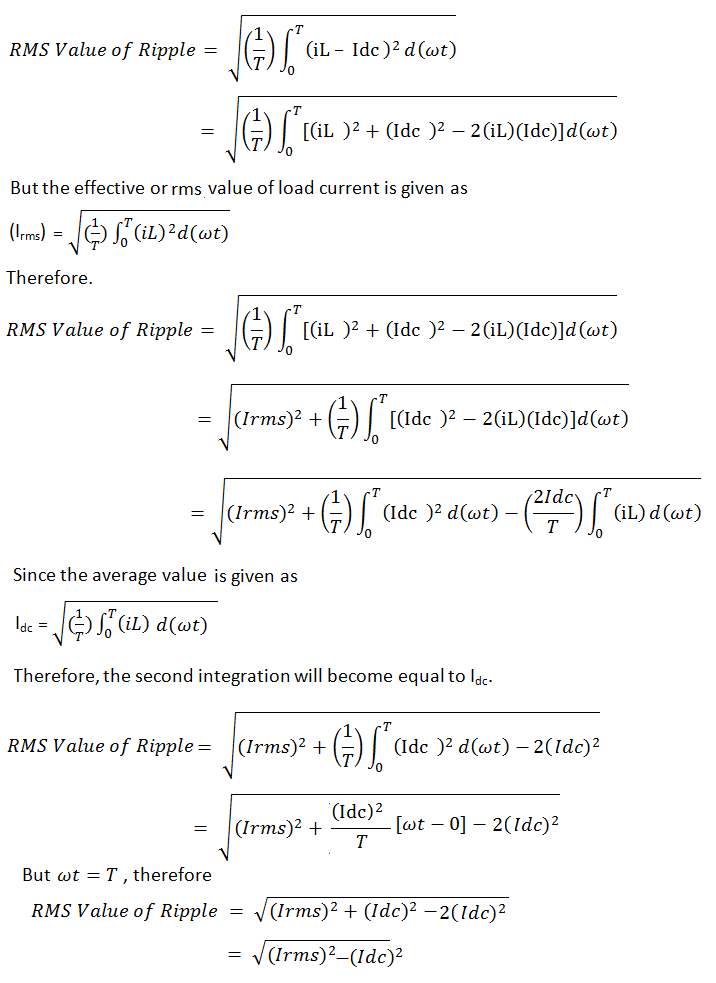 derivation-of-ripple-factor-formula