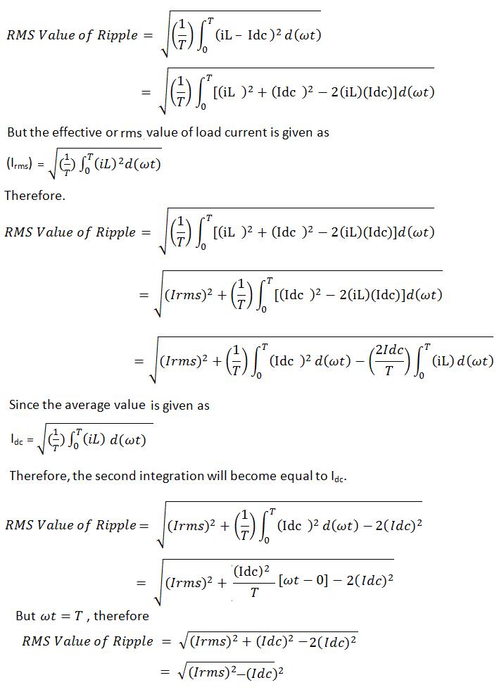 derivation-of-ripple-factor-formula