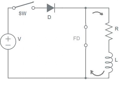 Freewheeling Diode Working Principle-2
