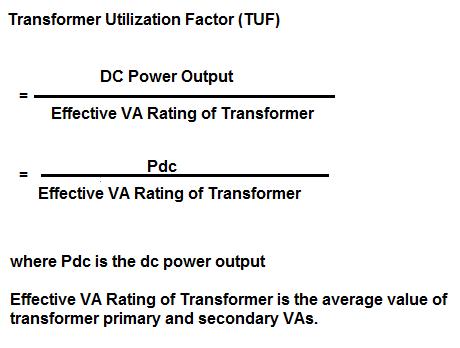 Transformer Utilization Factor-definition and formula