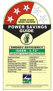 1.5 ton ac power consumption