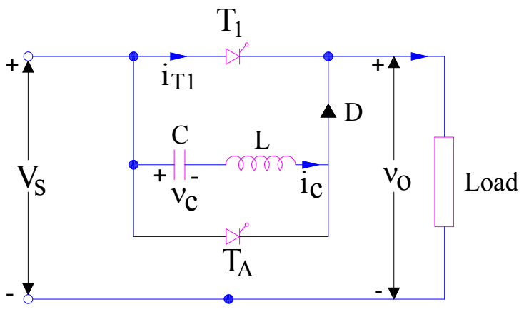 Class-B commutation circuit diagram