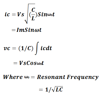 Class-D Commutation-resonating current and voltage