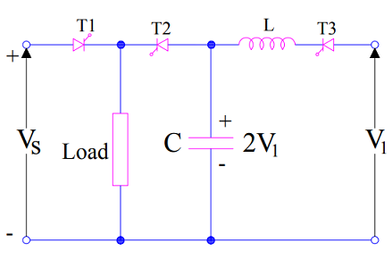 Class-E Commutation or External Pulse Commutation Circuit Diagram